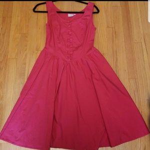 Beautiful eShakti Red Dress with Pockets!